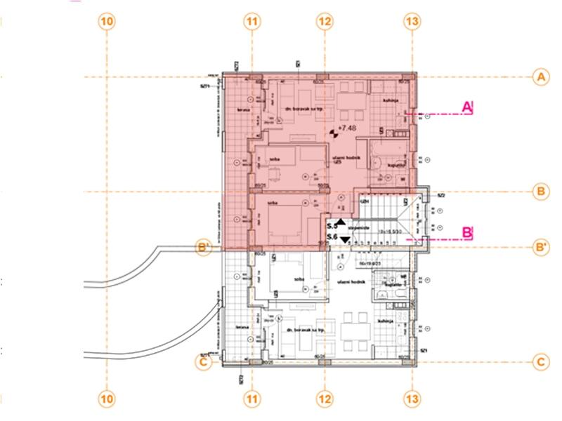 Pozicija na spratu stan 5