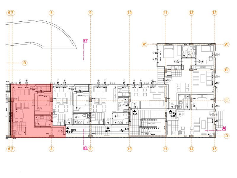 Pozicija na spratu stan 29