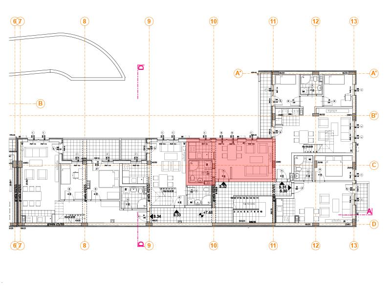 Pozicija na spratu stan 32